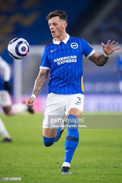 Ben White of Brighton & Hove Albion control ball during the Premier League match between Brighton & Hove Albion and Crystal Palace at American...