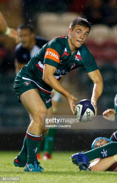 Ben White of Leicester Tigers during the PreSeason match between Leicester Tigers and Benetton Rugby at Welford Road on August 18 2017 in Leicester...