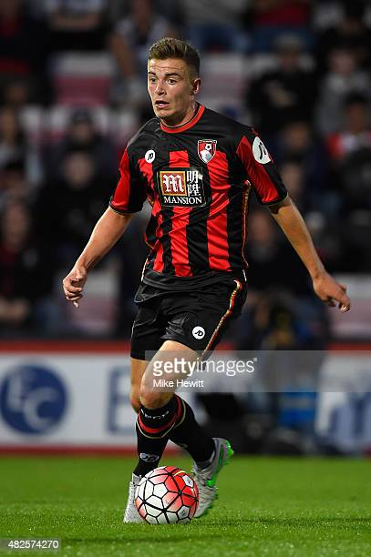 Ben Whitfield of Bournemouth in action during a Pre Season Friendly between AFC Bournemouth and Cardiff City at Vitality Stadium on July 31 2015 in...