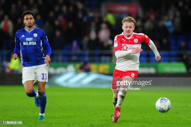 Ben Williams of Barnsley in action during the Sky Bet Championship match between Cardiff City and Barnsley at the Cardiff City Stadium on December...
