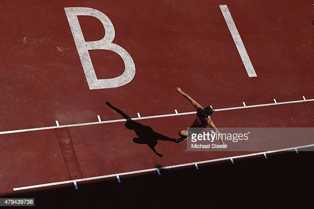 Ben Williams of Sale Harriers Manchester competes during the Triple Jump during day two of the Sainsbury's British Championships at Birmingham...