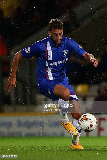 Ben Williamson of Gillingham FC controls the ball during the Sky Bet League One match between Bradford City AFC and Gillingham FC at Coral Windows...