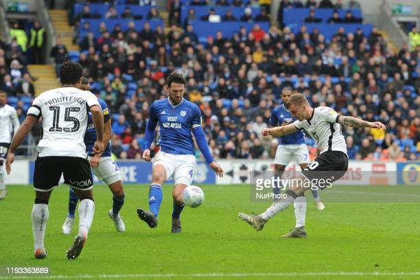 Ben Wilmot of Swansea City during the Sky Bet Championship match between Cardiff City and Swansea City at Cardiff City Stadium on January 12 2020 in...