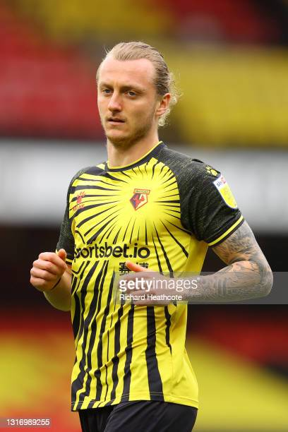 Ben Wilmot of Watford in action during the Sky Bet Championship match between Watford and Swansea City at Vicarage Road on May 08, 2021 in Watford,...