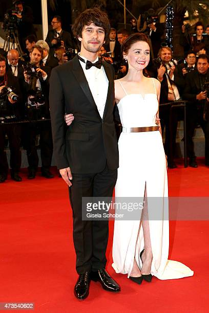 Ben Wishaw and Jessica Barden attend the Premiere of The Lobster during the 68th annual Cannes Film Festival on May 15 2015 in Cannes France