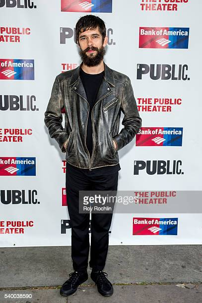 Ben Wishaw attends 'The Taming Of The Shrew' opening night at Delacorte Theater on June 13 2016 in New York City