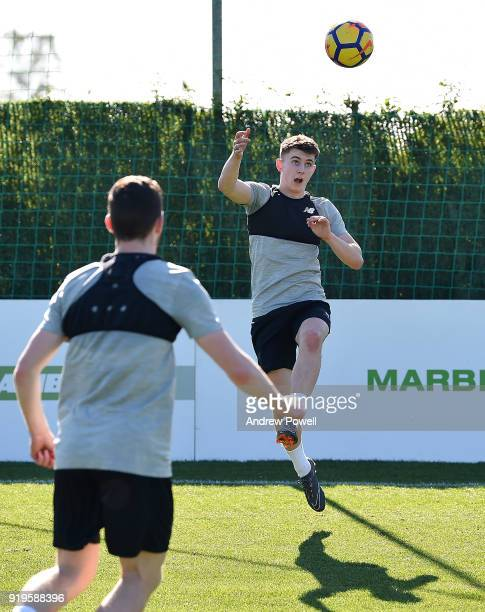 Ben Woodburn of Liverpool during a training session at Marbella Football Center on February 17 2018 in Marbella Spain