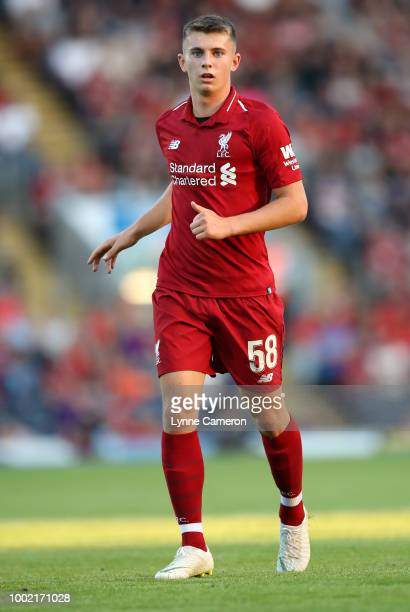 Ben Woodburn of Liverpool during the PreSeason Friendly between Blackburn Rovers and Liverpool at Ewood Park on July 19 2018 in Blackburn England