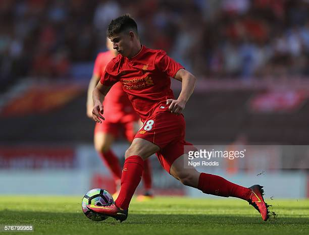 Ben Woodburn of Liverpool during the PreSeason Friendly match between Wigan Athletic and Liverpool at JJB Stadium on July 17 2016 in Wigan England