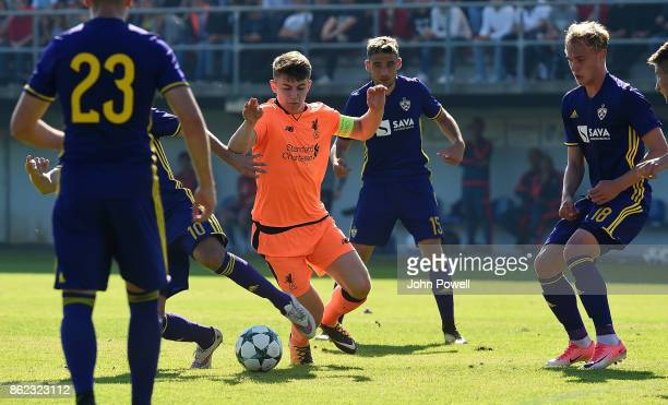 Ben Woodburn of Liverpool during the UEFA Youth League group E match between NK Maribor and Liverpool FC at on October 17 2017 in Maribor Slovenia