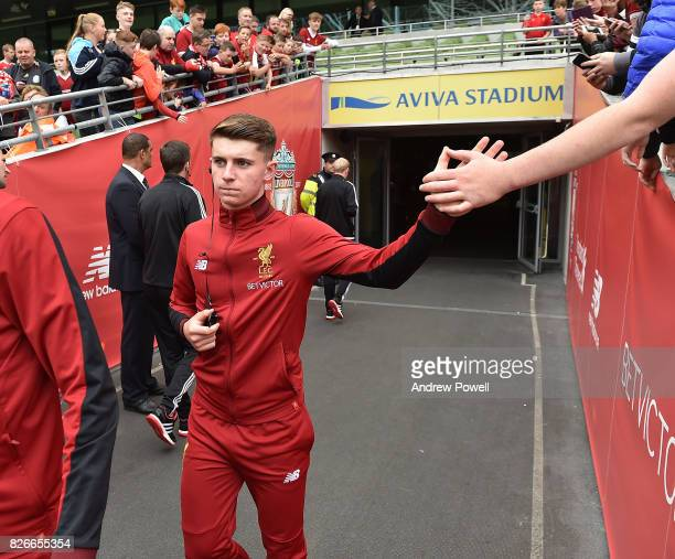 Ben Woodburn of Liverpool walking out to have a look at the pitch before a pre season friendly match between Liverpool and Athletic Bilbao at Aviva...