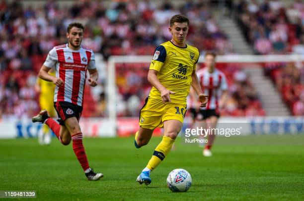 Ben Woodburn of Oxford United in action during the Sky Bet League 1 match between Sunderland and Oxford United at the Stadium Of Light Sunderland on...