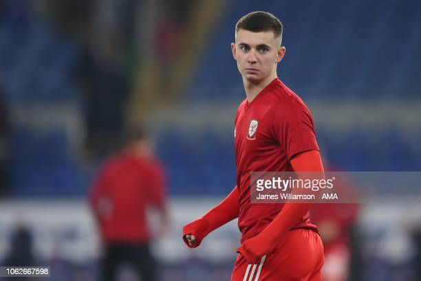 Ben Woodburn of Wales during the UEFA Nations League B group four match between Wales and Denmark at Cardiff City Stadium on November 16 2018 in...