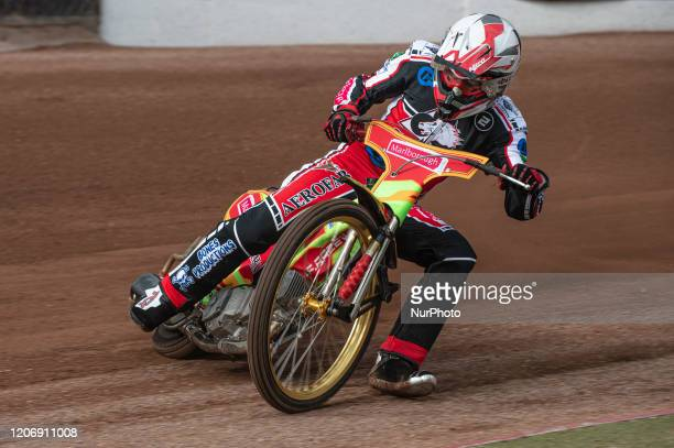 Ben Woodhull of Belle Vue Colts in action during The Belle Vue Speedway Media Day, at The National Speedway Stadium, Manchester, on Thursday 12 March...