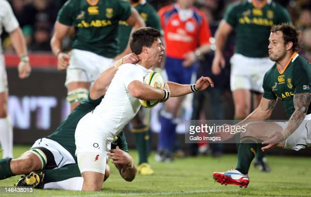 Ben Youngs of England goes for the try line during the 2nd Castle Lager Incoming Tour test match between South Africa and England at Coca Cola Park...