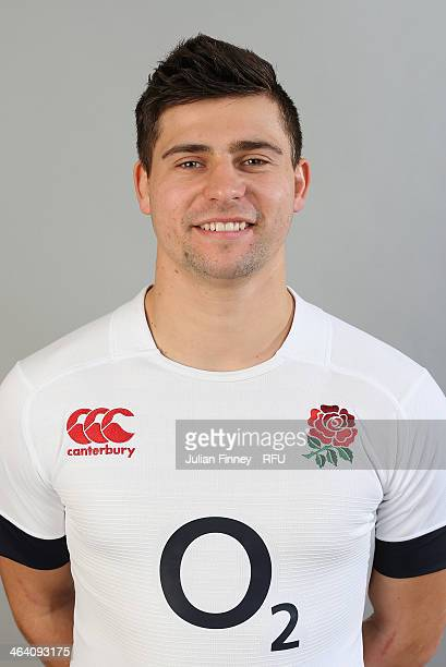 Ben Youngs of England poses for a portrait during the England Six Nations Squad Photo Call at the Penny Hill Hotel on January 20 2014 in Bagshot...