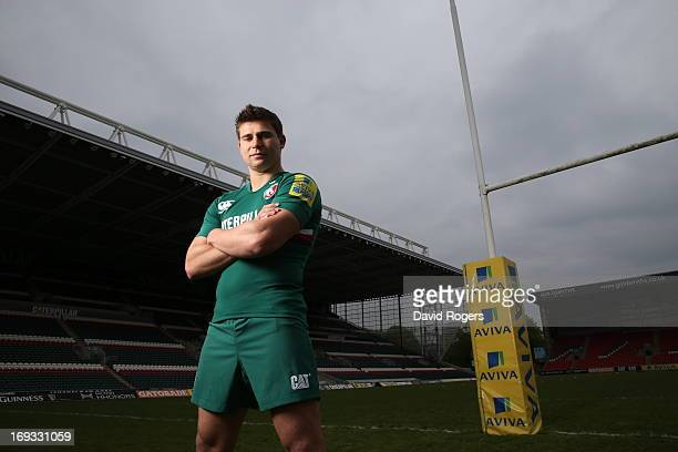 Ben Youngs of Leicester Tigers poses for a portrait at Welford Road on May 17 2013 in Leicester England
