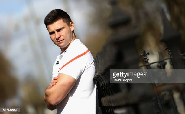 Ben Youngs the England scrumhalf poses during the England media session held at the Randolph Hotel on March 2 2017 in Oxford England