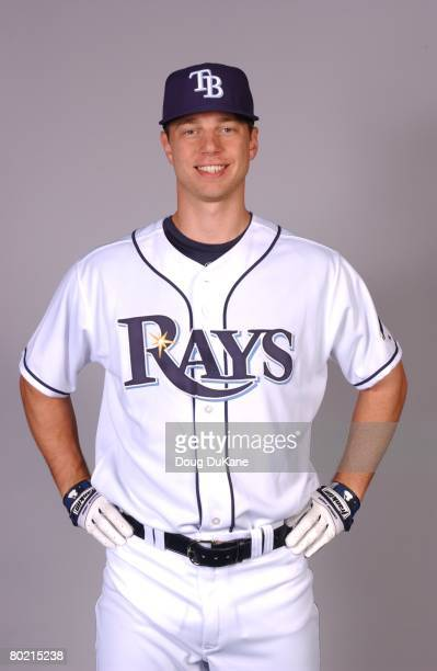 Ben Zobrist of the Tampa Bay Rays poses for a portrait during photo day at Progress Energy Park on February 22 2008 in St Petersburg Florida