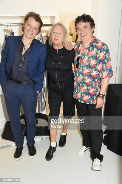 Benabar Agnes B and Patrick Pelloux pose during Agnes B Menswear Spring/Summer 2018 show as part of Paris Fashion Week ton June 25 2017 in Paris...