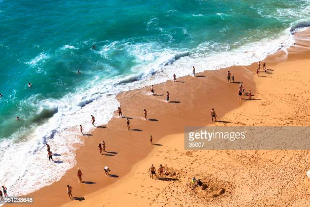 benagil beach, algarve coastline in portugal - lagos portugal stock pictures, royalty-free photos & images