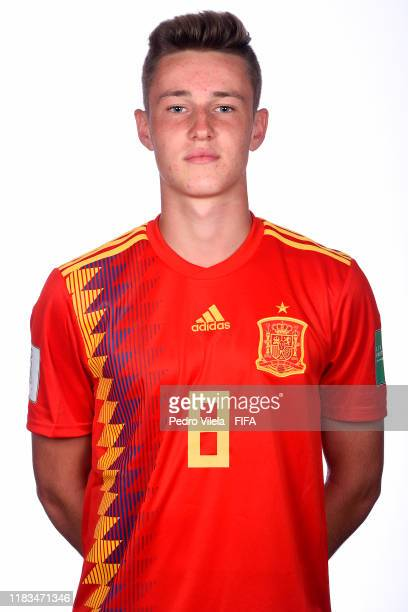Benat Turrientes poses during the U17 Spain team presentation on October 25 2019 in Vitoria Brazil