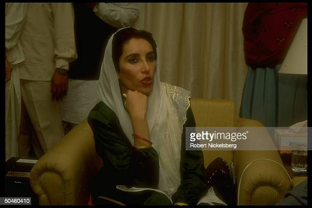 Benazir Bhutto after Parliamentary vote on no-confidence motion in her govt. Failed.