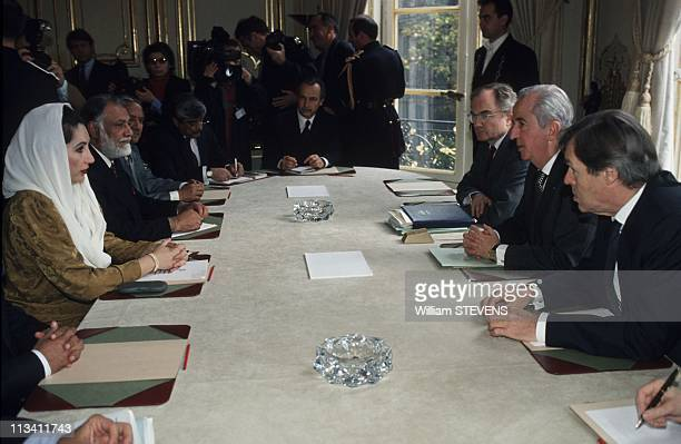 Benazir Bhutto At Matignon On November 04th 1994