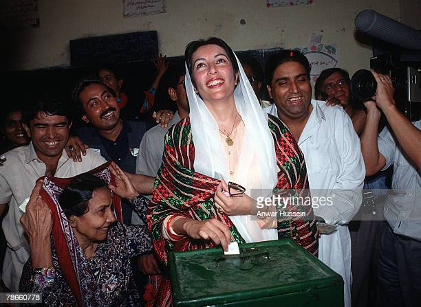Benazir Bhutto casts her vote in Larkana Sindh Benazir became the youngest and first woman Prime Minister of Pakistan in 1988 She is killed in a bomb...