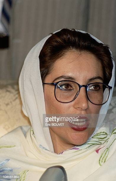 Benazir Bhutto in Alger Algerie on July 14th 1990