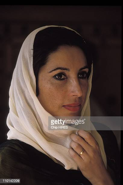 Benazir Bhutto on election campaign in Punjab Pakistan in january 11 1988