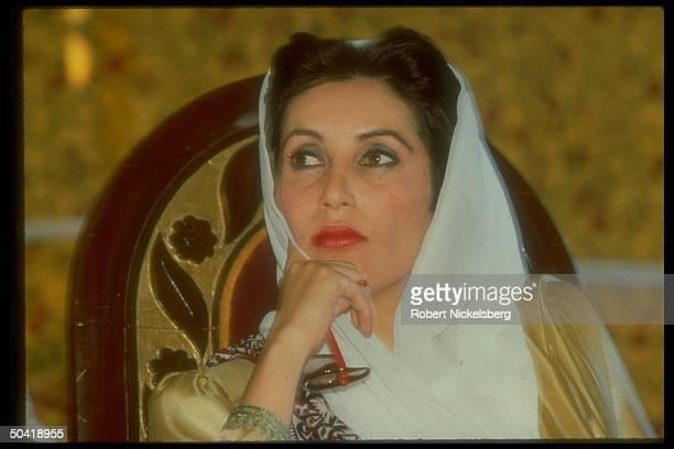 Benazir Bhutto, PM of Pakistan.