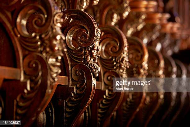 Bench carvings in Malaga Cathedral