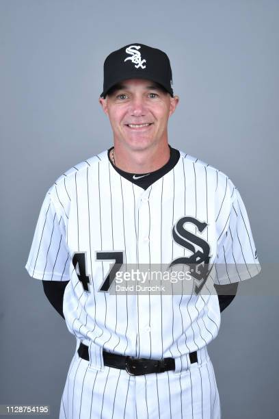 Bench Coach Joe McEwing of the Chicago White Sox poses during Photo Day on Thursday February 21 2019 at Camelback Ranch in Glendale Arizona