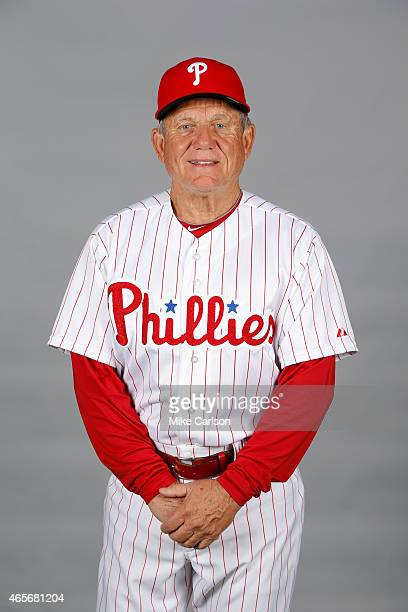 Bench coach Larry Bowa of the Philadelphia Phillies poses during Photo Day on Friday February 27 2015 at Bright House Field in Clearwater Florida