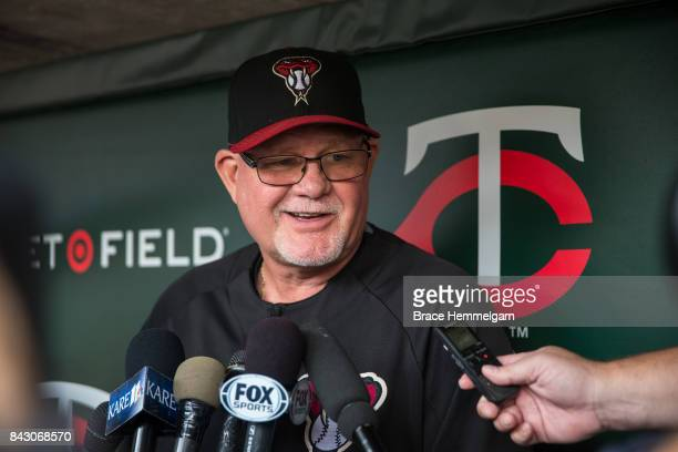 Bench coach Ron Gardenhire of the Arizona Diamondbacks against the Minnesota Twins on August 18 2017 at Target Field in Minneapolis Minnesota The...