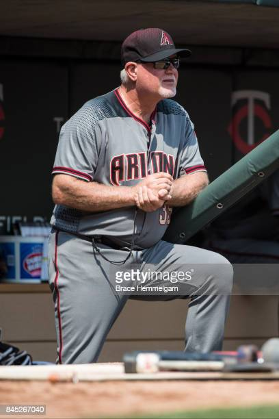 Bench coach Ron Gardenhire of the Arizona Diamondbacks against the Minnesota Twins on August 20 2017 at Target Field in Minneapolis Minnesota The...