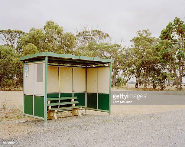 Bench in bus shelter