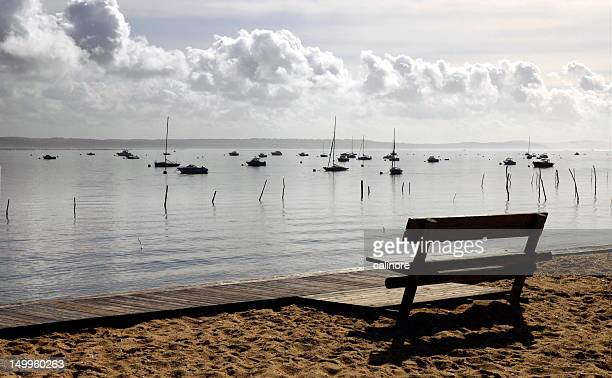 Bench on beach