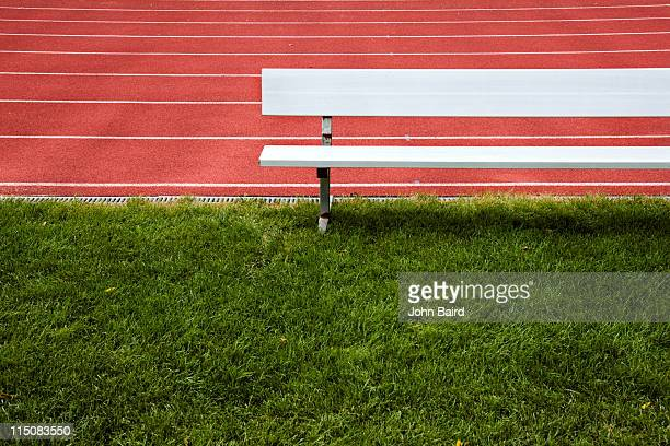 bench on grass - bench stock pictures, royalty-free photos & images