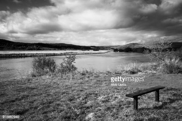 Bench on Midgdale Firth near Dornoch, Scotland