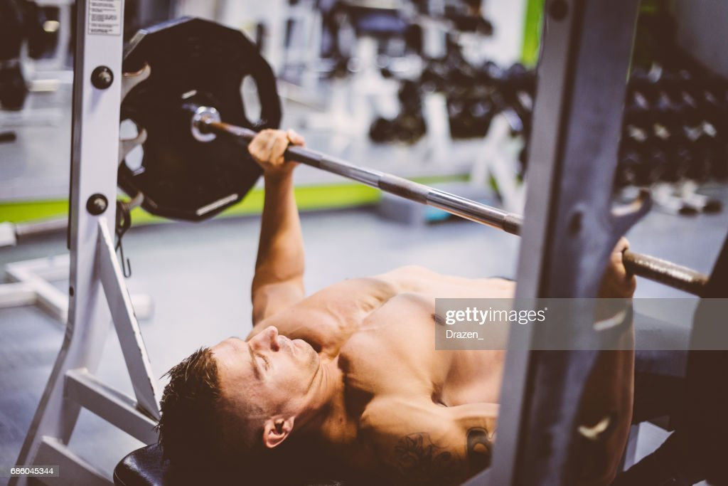 Bench Press Exercise In Gym