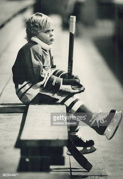 Bench warmer Jodi Weiss 4 of Scarborough mourns Opportunity lost yesterday after the Cedar Hill hockey club kicked her off the Three Little Pigs team...