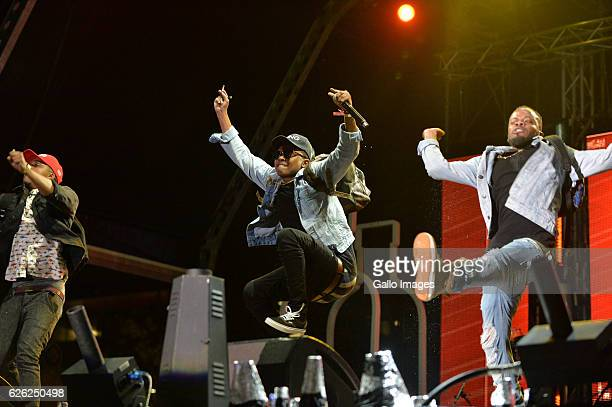 BenchMarq performs during the 7th annual Maftown Heights 2016 concert at the Mary Fritzgerald Square on November 25 2016 in Johannesburg South Africa...