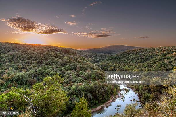 bend in the river - ozark mountains stock pictures, royalty-free photos & images