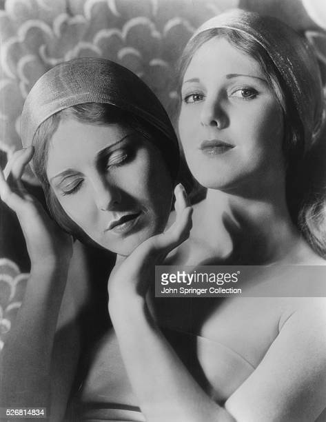 WT Benda made very lifelike paper mache masks like the one being held by Jean Arthur here