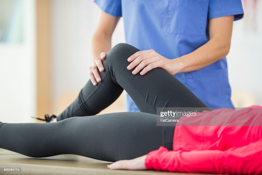 Bending Knee : Stock Photo