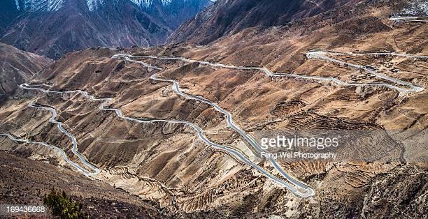 99 bends, Yela Mountain, Tibet