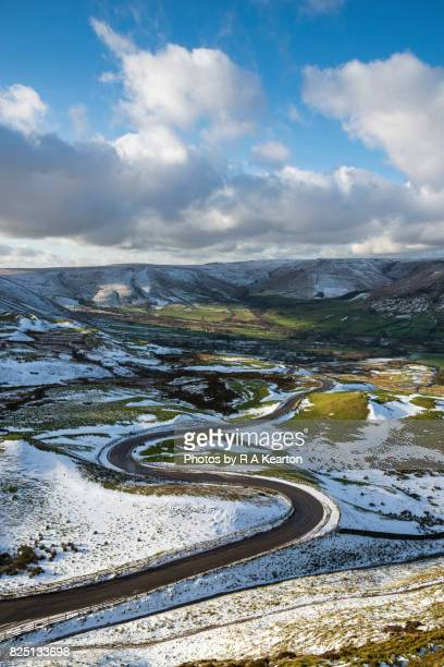 Bendy road in a snowy landscape