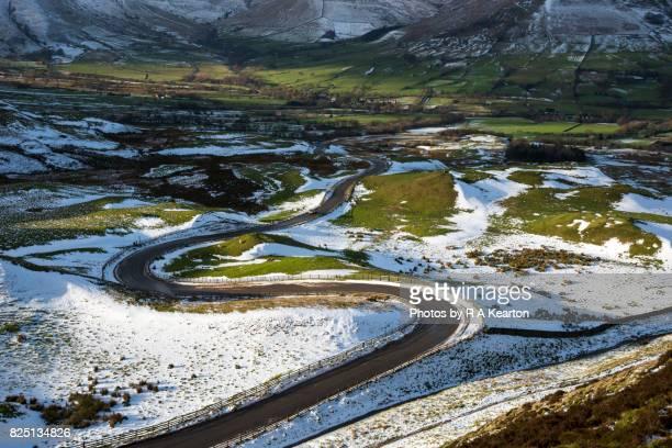 Bendy road in winter